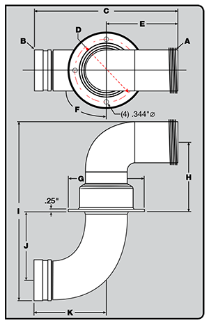 Discharge elbows diagram