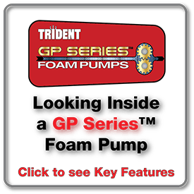 Looking inside a GP Series Foam Pump. Click here to see Key Features.