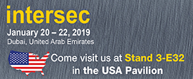 See us at Intersec Jan 20-22, 2019