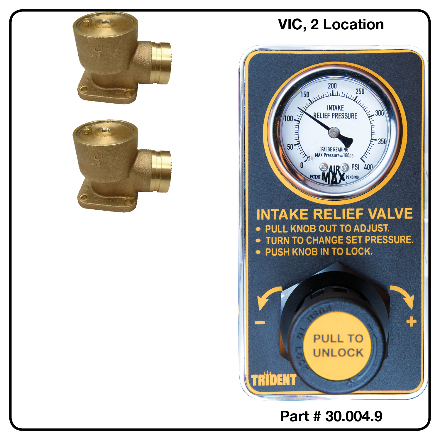 AirMax Relief Valve, VIC, Two Location
