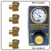 AirMax Relief Valve, NPT, Four Location