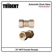 "Automatic Drain Valve, .75""F NPT"