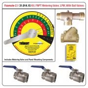Foamate 2.1 ATP System, Metering Valve with FNPT Ends, LPM Flow Rates, w/ Ball Valves
